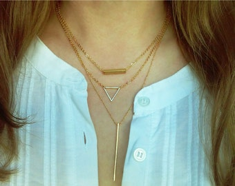 Long Bar Necklace / Thin Bar Necklace / Everyday Jewelry / Minimal Jewelry / Simple Layered Jewellery / N131