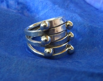 Gothic style solid silver ring