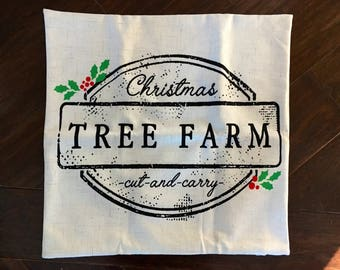 Tree Farm Sign-pillow cover