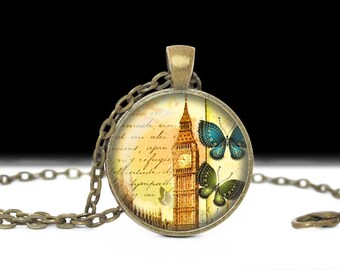 London Jewelry England Necklace Wearable Art Pendant Charm London Necklace London Gift