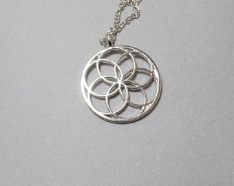 Seed of Life Necklace - Sacred Geometry Necklace - Flower Necklace - Geometric Necklace - Free US Shipping
