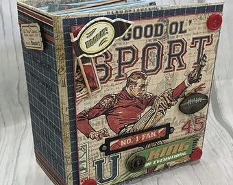 GOOD SPORT All Occasion Scrapbook Scrapbooking Chipboard Mini Album