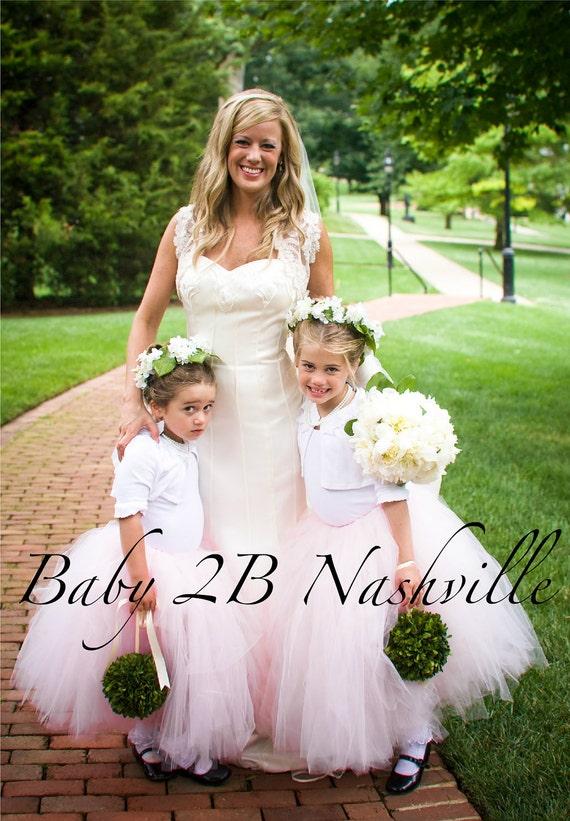 Pink Flower girl Wedding Tutu All Sizes up to Girls 10