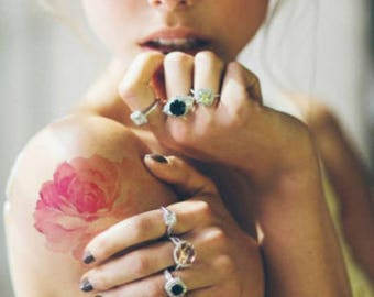 Floral Hues - Realistic Temporary Tattoo