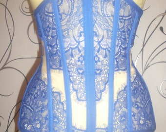 Sale! Transparent corset cornflower blue