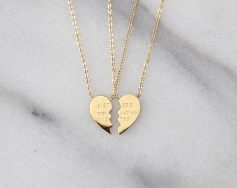 Sisters From Another Mister Friendship Necklace Set - M1501