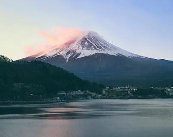 Fuji Tokyo Japan digital download color print printable sunrise mountain photo