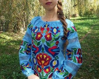 Ukrainian blouse vyshyvanka / Ukrainian embroidery / Peasant blouse / embroidered shirt / boho blouse / Ukrainian clothing /