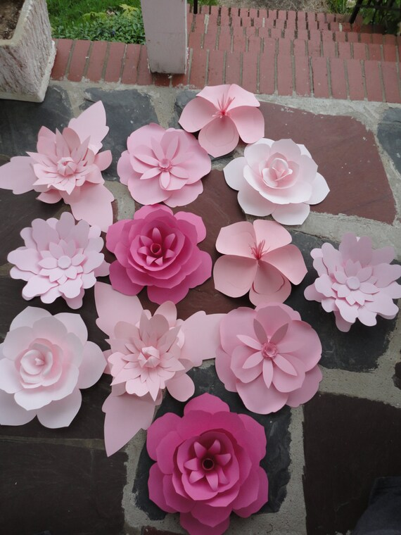 Extra large paper flowers image collections flower decoration ideas items similar to large pink paper flowers rose extra large flower items similar to large pink mightylinksfo