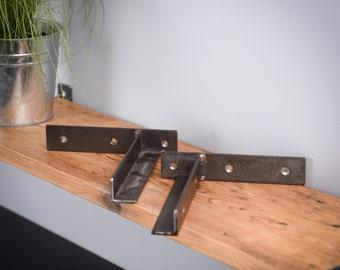 Metal Shelf Brackets, Modern, Custom Metal Shelf Brackets, Mild Steel Steel Shelf Brackets, Industrial Metal Brackets, Brackets For Shelves