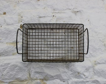 Vintage wire baskets reclaimed from factory - Industrial style storage