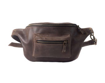 Leather pouch, custom fanny pack, work bag, the everyday bag, leather hip bag, leather bag brown, leather fanny pack, leather belt bag,brown