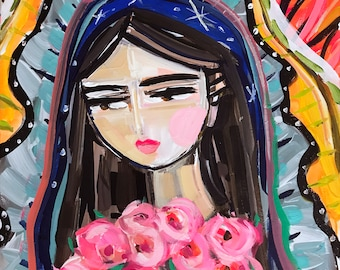 Modern Mary Portrait, Virgin de Guadalupe