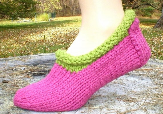 Knitting Pattern Shortie Slippers Faeroe Slipper Socks Knit