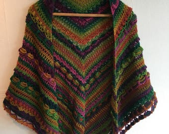 Lost in time crocheted shawl