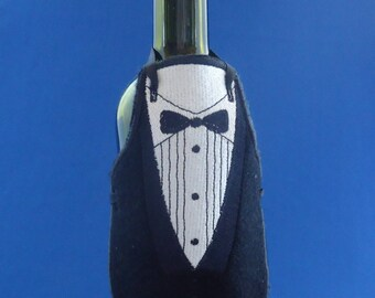 Tuxedo Bottle Apron Wedding Favor
