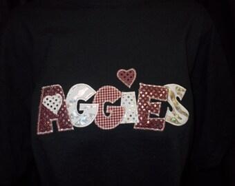 Applique Aggie Shirt