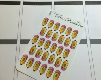 Pencil    Tritone Tinies Adorable Pencil Planner Stickers    TT021
