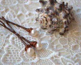 Pearl Hair Pins Beach wedding Girls hair accessory Bridal bobby Pin clip hair accessories pearl hair jewelry hair piece daughter gift Set 3