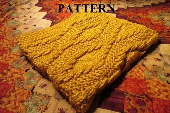 Knit Baby Blanket Pattern Knitting Pattern Chunky Yarn Knit Purl