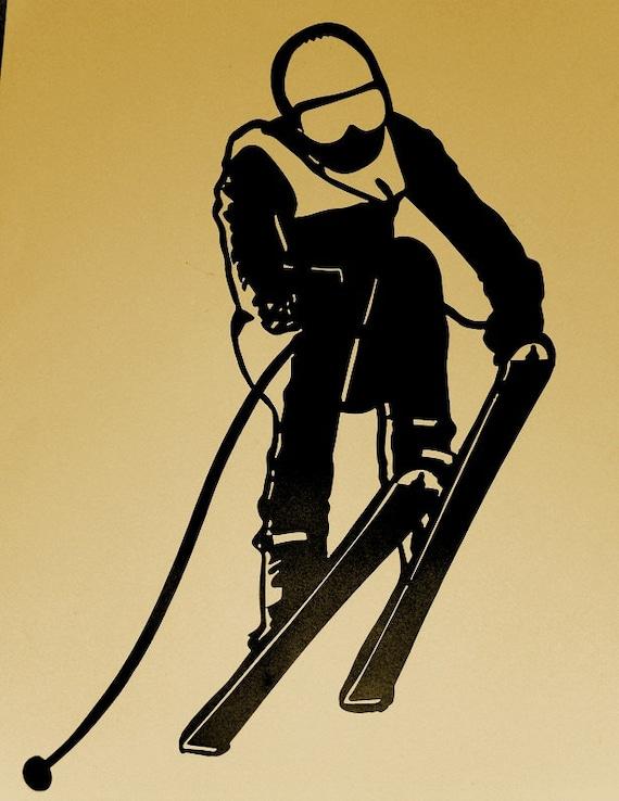 Ski Skier Snow Sport Skiing Wall art Metal Art Wall
