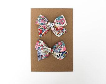 Mini Pinwheel // Patchwork Pigtail Set