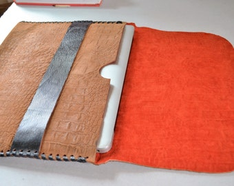 "Genuine soft suede leather macbook 13""pro sleeve."