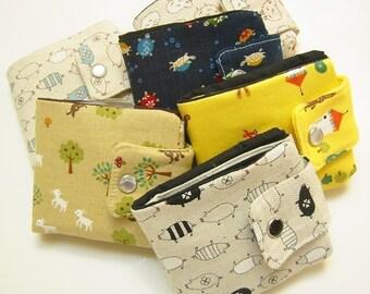 Custom Fabric Wallet   Vegan wallet   Billfold Wallet   Wallet