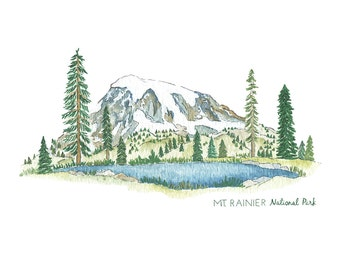 Mt. Rainier National Park Print