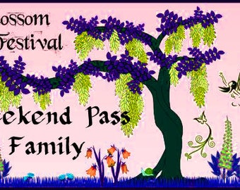 FAMILY WEEKEND Pass to FAIRYBLOSSOM Festival Midsummer Games, June 29 - Jul 1, 2018, Fairy, Pirate, Mermaid, Fantasy, Faire