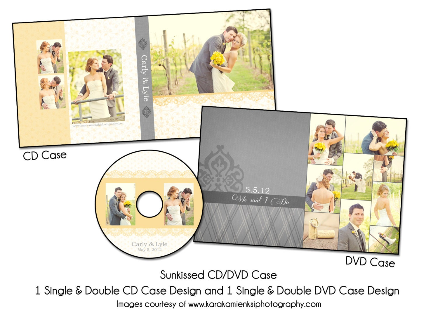PSD DVD Template SUNKISSED Cd and Dvd Case Set