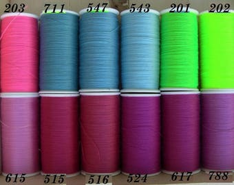 Sewing wire, yellow Orange and neon, special machine 200 meters, all textiles, 100% POLYESTER