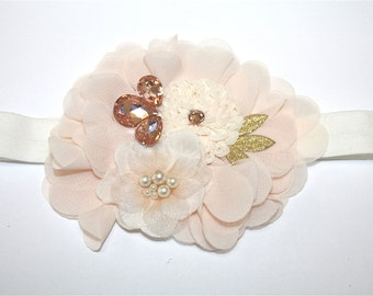 Stunning Headband, Photo Prop, Girl Flower Headband, Baby Headband, Headbands, Baby, Birthday, Christening