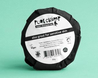 Natural Shampoo Bar by PureChimp 80g 2.82oz - 100% Natural, Handmade, Vegan