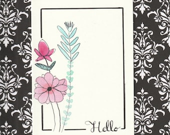 Blank note card, Hello, Friendship, Thinking of you