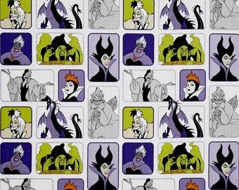 Disney Villain's Wicked Women on White from Camelot Fabrics