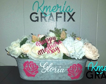 MOTHERS DAY SPECIAL - Galvanized Custom Planter