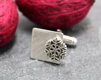 LET IT SNOW, Cuff Links,Cufflinks,Cuff,Sleeve, for men