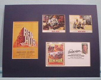 Academy Award Winner - Charlton Heston in Ben-Hur & First Day Cover of his own stamp
