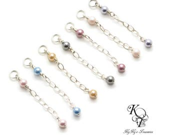 Add On Swarovski Pearl Extender Pearl Bracelet Extender Pearl Necklace Extender Sterling Silver Extender Chain Wire Wrapped
