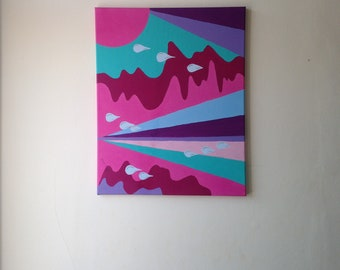 Pink Painting, Original Painting on Canvas, Original Painting, Abstract Painting, Canvas Painting, Painting, Abstract Art, Office Decor