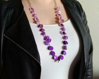 Purple Ombre Long Fashion Necklace