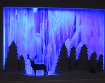 Northern Light Stained Glass Window Sculpture