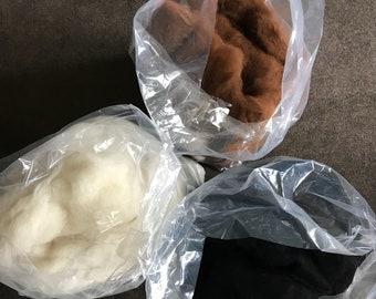 Carded alpaca fibre
