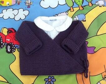 life jacket baby wrap-baby gift newborn baby knitting wool knit Cardigan