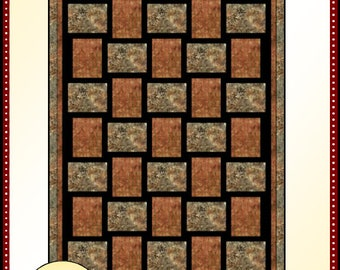 Downloadable Sew Fast Quilt Pattern Easy 3 Yard Design
