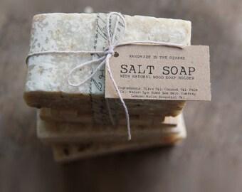 SALT SOAP bar Made In The OZARKS  | Salt Life,  Sea Salt Soap Bar, Detoxifying Soap, Detox Soap, Rustic Gift, Man Gift
