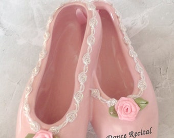"6"" Personalized Dance Recital Slippers Shoes Gift For Ballet Dancer Ceramic"