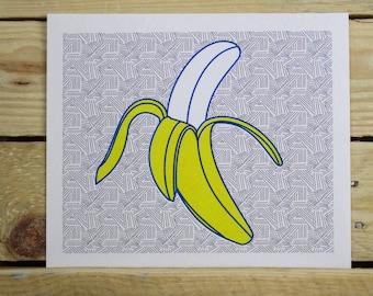 Banana Risograph Print