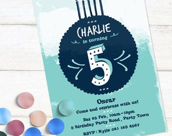 Number Party Invitation